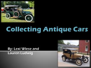 Collecting Antique Cars