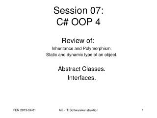 Session 07: C# OOP 4
