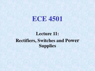 ECE 4501