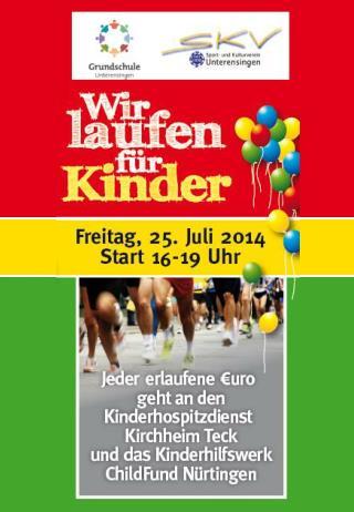 Wir laufen für Kinder – Programmablauf 16:00 Uhr  Wir treffen uns im Klassenzimmer