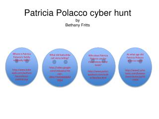 Patricia  Polacco  cyber hunt by Bethany Fritts