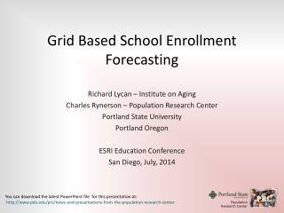Grid Based School Enrollment Forecasting