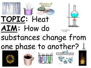 TOPIC :  Heat AIM :  How do substances change from one phase to another?
