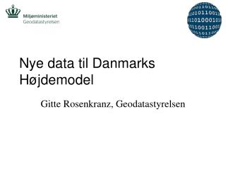 Nye data til Danmarks H�jdemodel