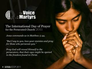 The International Day of Prayer