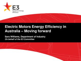 E3 Program and Electric Motors