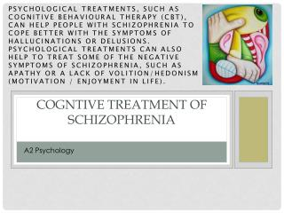 COGNTIVE  Treatment  OF SCHIZOPHRENIA