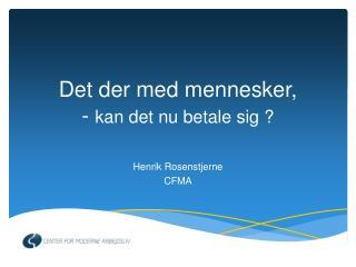 Henrik Rosenstjerne CFMA