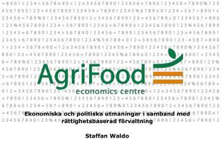 Ekonomiska och politiska utmaningar i samband med rättighetsbaserad förvaltning Staffan Waldo