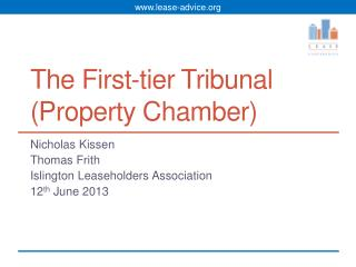 The First-tier Tribunal (Property Chamber)