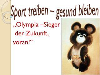 Sport treiben � gesund bleiben