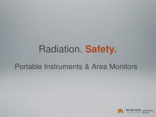 Portable Instruments & Area Monitors