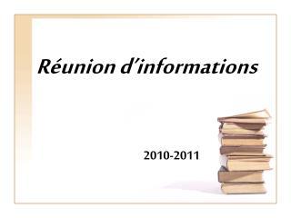 Réunion d'informations