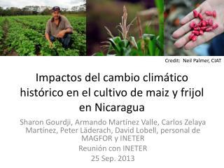 Impactos  del  cambio climático histórico  en el  cultivo  de  maiz  y frijol en Nicaragua