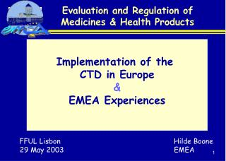 Evaluation and Regulation of Medicines  Health Products