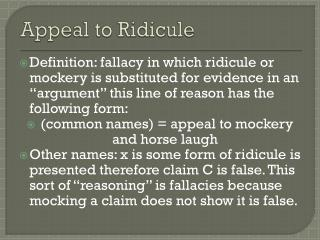 Appeal to Ridicule