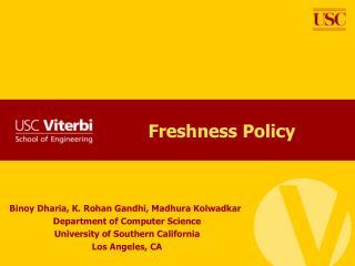 Freshness Policy