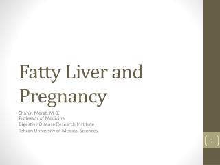 Fatty Liver and Pregnancy