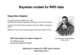 Bayesian models for fMRI data