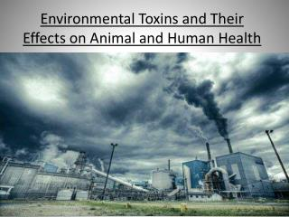 Environmental Toxins and Their  E ffects on Animal and Human  H ealth