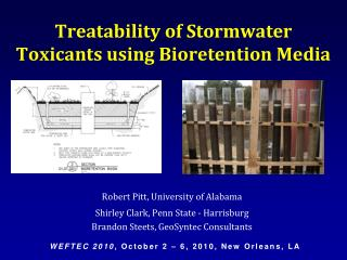 Treatability of Stormwater Toxicants using Bioretention Media