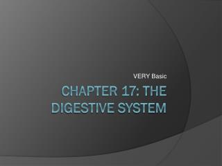 Chapter 17: The Digestive System