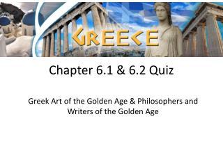 Chapter 6.1 & 6.2 Quiz