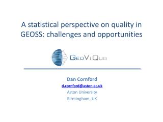 A statistical perspective on quality in GEOSS: challenges and opportunities