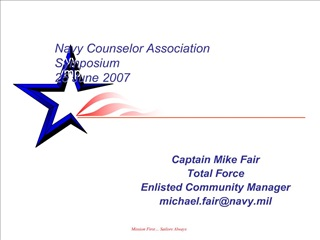 Navy Counselor Association Symposium June 2007