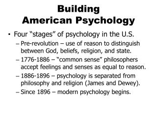 Building  American  Psychology