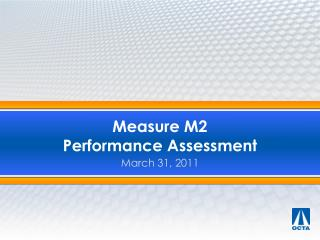 Measure M2   Performance Assessment