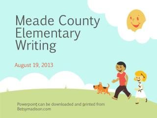 Meade County  Elementary Writing