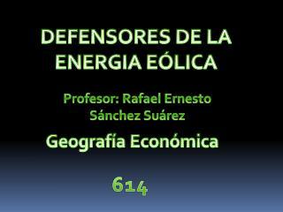 DEFENSORES DE LA ENERGIA E�LICA