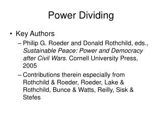 Power Dividing