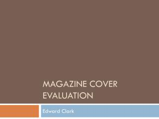 Magazine cover evaluation