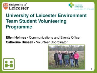 University of Leicester Environment Team Student Volunteering Programme