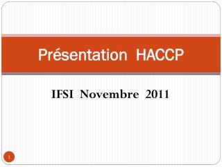 Présentation  HACCP