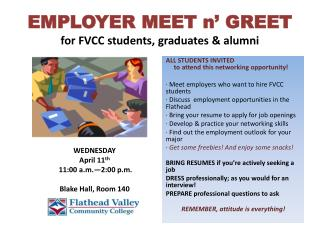 EMPLOYER  MEET n' GREET for FVCC  students, graduates & alumni