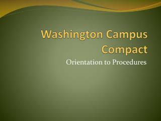 Washington Campus Compact