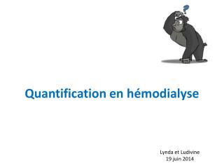 Quantification en hémodialyse