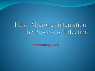 Host- Microbes  interaction: The Process of Infection