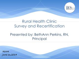 Rural Health Clinic Survey and Recertification