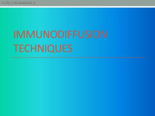 Immunodiffusion techniques
