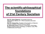 The scientific-philosophical foundations of 21st Century Socialism