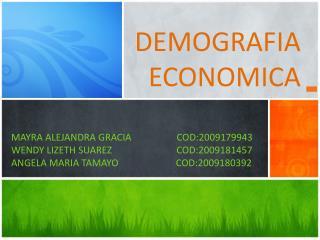 DEMOGRAFIA ECONOMICA