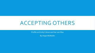Accepting Others