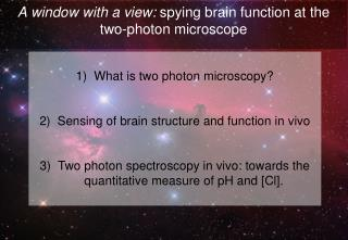 A window with a view:  spying brain function at the two-photon microscope