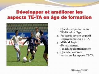 D�velopper et am�liorer les aspects TE-TA en �ge de formation