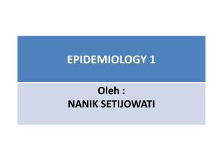 I. SEJARAH EPIDEMIOLOGY
