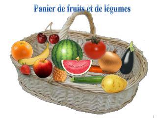Panier de fruits et de légumes